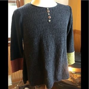 Cotton Tunic Sweater Margaret Winters ColorBlock